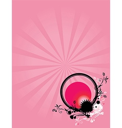 Abstract floral circle pink background 1 vector