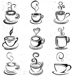 Abstract Hand Drawn Coffee Cup vector image