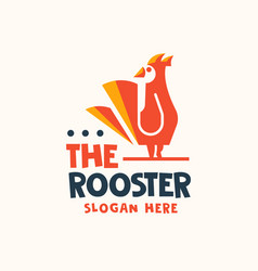 abstract rooster logo design template vector image