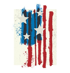 american colors styled grunge flag vector image