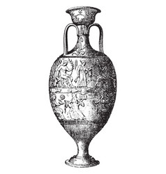 Amphora storage of various products both liquid vector