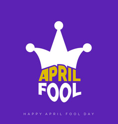 april fools day lettering typography on purple vector image