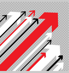 arrows move up to success vector image