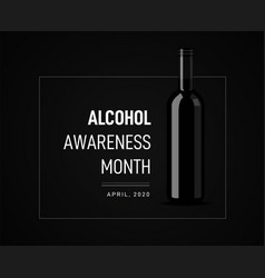 Awareness month on dangers alcohol vector