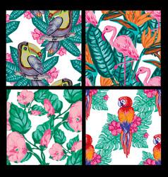 Beautiful tropical seamless pattern vector