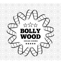 bollywood is a traditional indian movie vector image