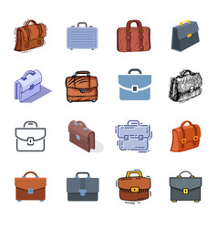 briefcase business suitcase bag and baggage vector image