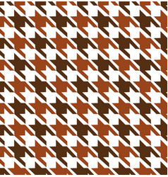 Brown hounds tooth seamless pattern vector