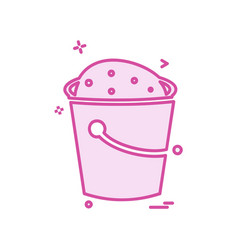 bucket icon design vector image