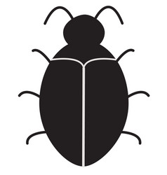 Bug software bug icon on white background vector