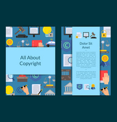 card or flyer template with flat style vector image