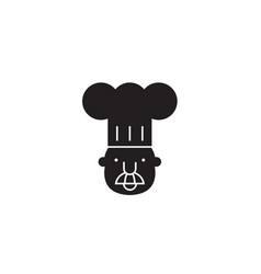 chef mascot black concept icon chef mascot vector image
