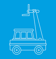 cherry picker icon outline vector image