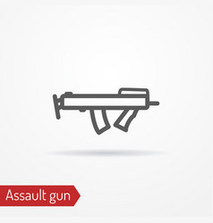 compact submachine gun line icon vector image