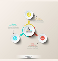 creative infographic design layout vector image