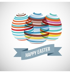 Easter eggs strips vector image