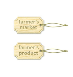 Eco tags set 16 vector