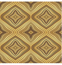 endless retro golden pattern with colorful wavy vector image