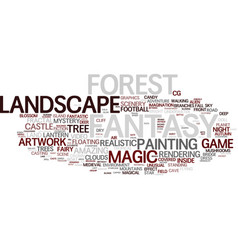 fantasy word cloud concept vector image