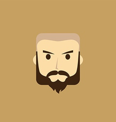 gentleman avatar portrait icon vector image