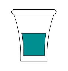 Glass lemon draw vector