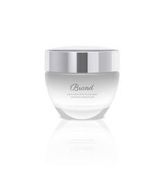 Gradient realistic cream jar vector