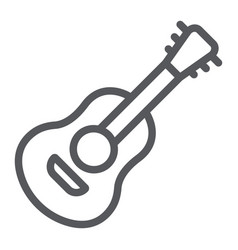 guitar line icon sound and music musical vector image