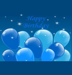 happy birthday typography vector image