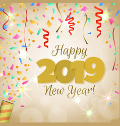 happy new year 2019 vector image