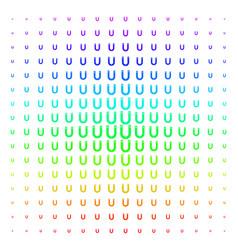 Horseshoe magnet shape halftone spectral effect vector