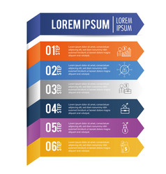 Infographic data strategy with lorem ipsum vector