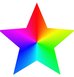Isolated gradient rainbow star design template vector image