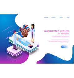Isometric banner augmented reality in medicine 3d vector