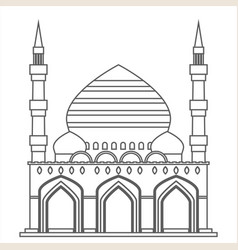 Lineart islam traditional architecture muslim vector
