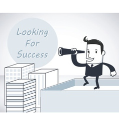 Looking for Success vector image