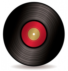 LP record album vector image
