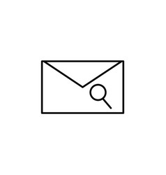 mail search icon vector image