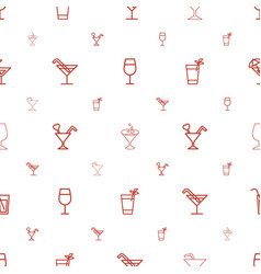 Margarita icons pattern seamless white background vector