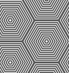 Monochrome striped hexagons vector image