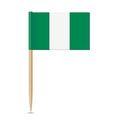 nigeria flag flag toothpick vector image