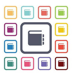 notepad flat icons set vector image