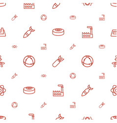 Nuclear icons pattern seamless white background vector