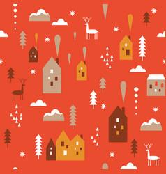 print seamless christmas pattern vector image