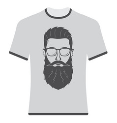 prints t-shirts with the image of hipsters and vector image