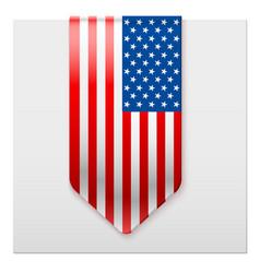 Realistic ribbon of american flag vector