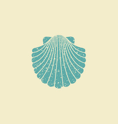 Sea shell flat vintage icon vector