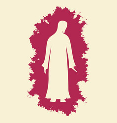 silhouette of the lord jesus christ vector image