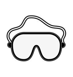 ski googles equipment vector image
