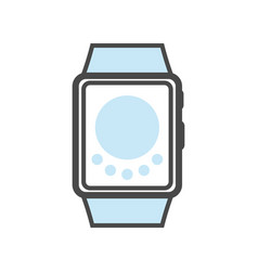 Smartwatch isolated linear icon vector