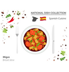spanish cuisine european national dish collection vector image